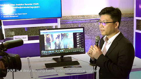 image of Gorilla demonstrated Intelligent Video Analytics Recorder (IVAR) Solution at Intel AI Day 2017